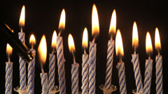 Birthday candles Stock Footage