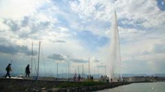 Jet d'eau - Geneva Stock Footage