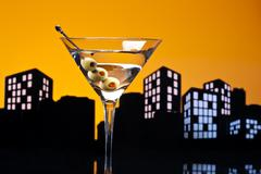 Stock Illustration of metropolis vodka martini