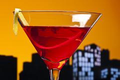 metropolis cosmopolitan cocktail - stock illustration