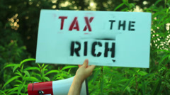 Tax the rich socialism Stock Footage
