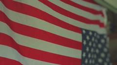 Unamerican flag antiamerican upside down Stock Footage