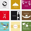 Stock Illustration of Labels for gastronomy