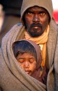 Father and son varanasi india. Stock Photos