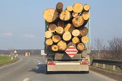 Logging truck Stock Photos
