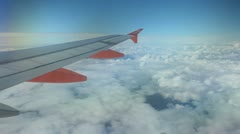airplane wing - stock footage