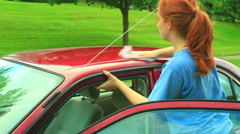 Cleaning car Stock Footage
