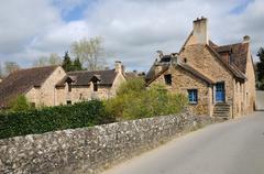 picturesque village of Saint Ceneri le Gerei in Normandie - stock photo