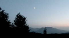 Twilight mountainside Chater-Dag Stock Footage