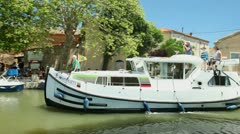 Canal du midi Stock Footage