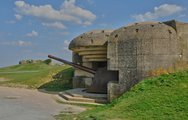 Stock Photo of artillery battery of Longues sur Mer in Basse Normandie