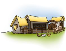 Farm - stock illustration