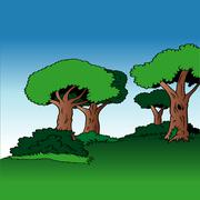 Stock Illustration of Tree Alley