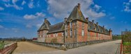 Stock Photo of renaissance castle of Carrouges in Normandie