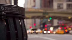 Street Scene in New York Stock Footage