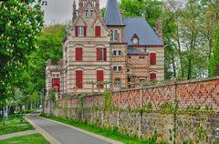 France, the Bouvaist house in Les Mureaux - stock photo