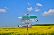 Stock Photo of France, the village of Drocourt in Ile de France