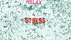 Stress broken by relax Stock Footage
