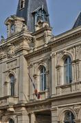 France, the city hall of Meulan - stock photo