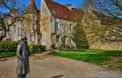 picturesque little town of Mortagne au Perche in Normandie - stock photo