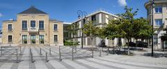 France, the city hall of Les Mureaux - stock photo
