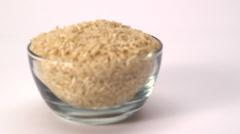 Brown Rice (focus) Stock Footage