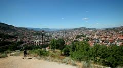 Panoramic view of the city of Sarajevo  Stock Footage