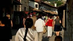 Urban scene in sarajevo Stock Footage