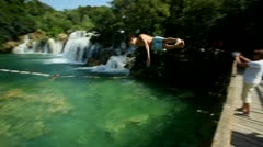 Krka national park Stock Footage