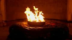 Eternal flame Stock Footage