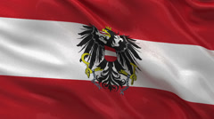 Flag of Austria seamless loop Stock Footage