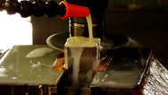 Stock Video Footage of HD1080p Machining process: Disc milling cutter at work. Part 4.