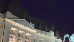Classic Architecture Building Tilt Stock Footage