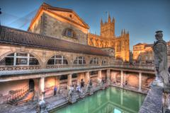 Roman baths at avon england Stock Photos