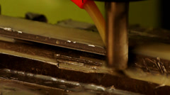 Grinding Metal Products Stock Footage