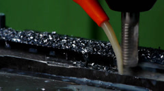 Automatic Grinding Details Stock Footage