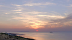 Sunset Over Sea with clouds Stock Footage