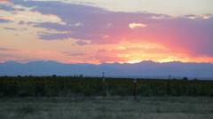 Brilliant sunset Stock Footage