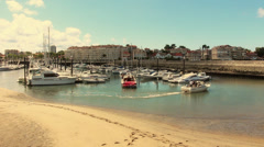 Boats docking in harbor, France - 1080p Stock Footage