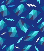 Trendy retro geometric seamless pattern. Stock Illustration