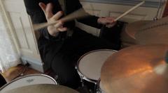 Drummer Twirling Sticks - stock footage