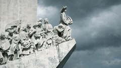 Lisbon monument to the discoveries Stock Footage