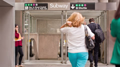 Subway in New York Stock Footage