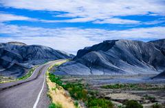 On the road, Utah, USA. Stock Photos