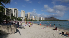 Waikiki Beach Hawaii Stock Footage