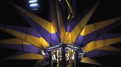 Fair night tower umbrella Stock Footage