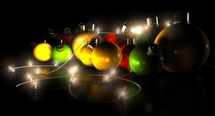 Christmas decorations and lights Stock Illustration