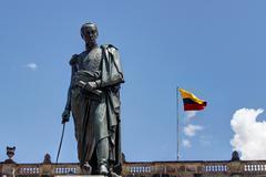 Statue of Simon Bolivar in Bogota - stock photo