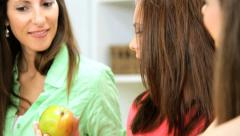 Young Caucasian Female Family Healthy Food Shopping Stock Footage