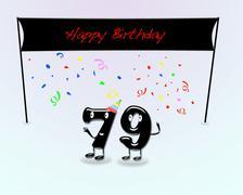 79th birthday party. Stock Illustration